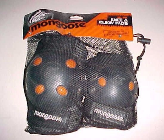 Mongoose BMX Bike Gel Knee and Elbow Pads Item No. MG506-3 Black New #Mongoose