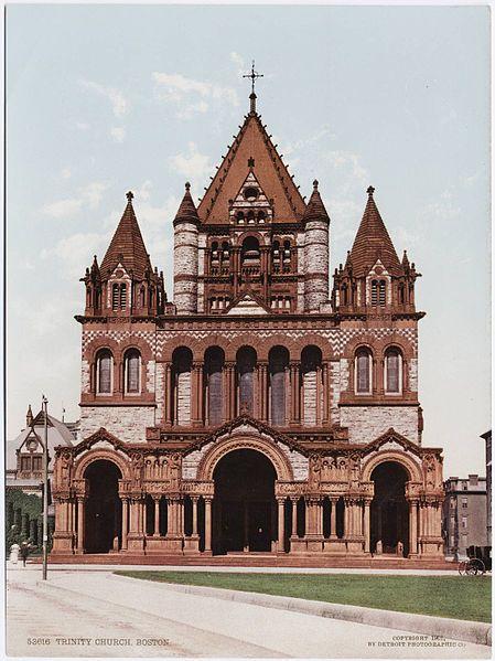Trinity Church - Boston - H.H. Richardson - File:Detroit Photographic Company (0399).jpg