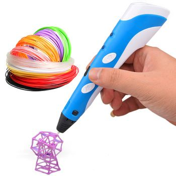 3d Printing Pen Multicolor 3d Printer Pen For Arts & Crafts Drawing With 3 Free 1.75mm Pla Filament