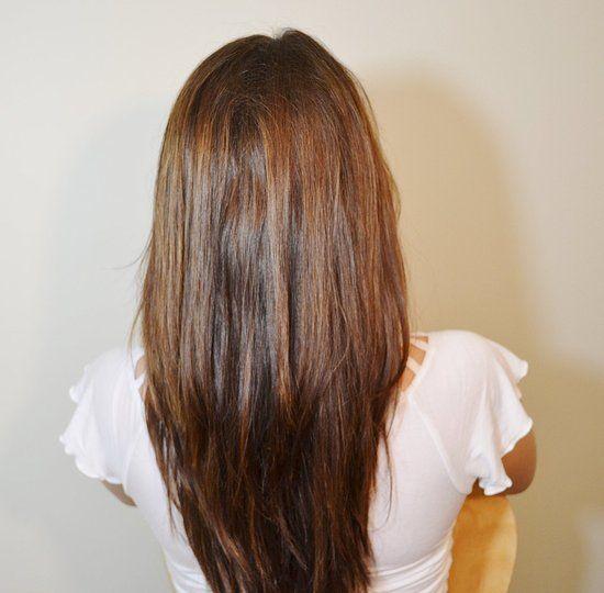 how to cut hair vertically