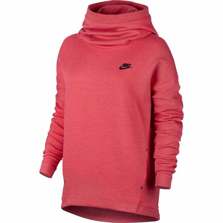 Nike Womens Tech Fleece Hoodie Pullover 844389-850 Sz S  EmberGlow European Rare #Nike #Hoodie