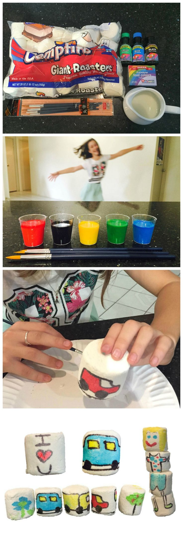 Design Your Own Marshmallows - Marshmallow Art - great for birthday parties