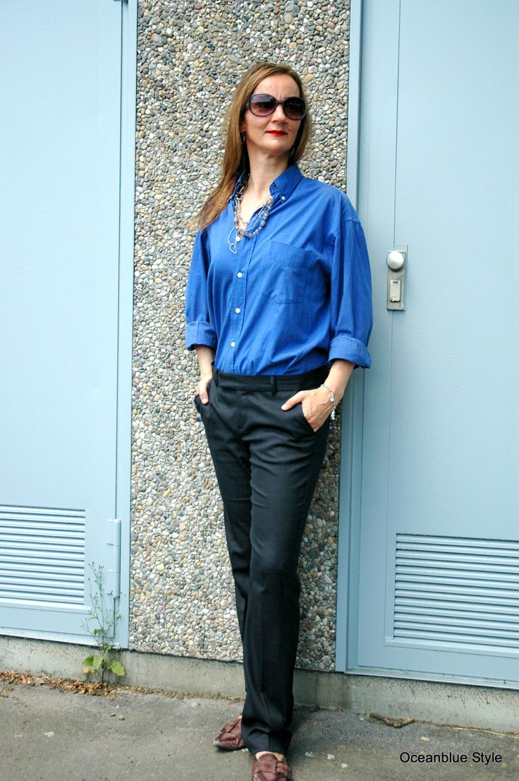 Graue Anzughose mit flachen Animalprint Ballerinas // Oceanblue Style ~ Modeblog aus Frankfurt am Main.