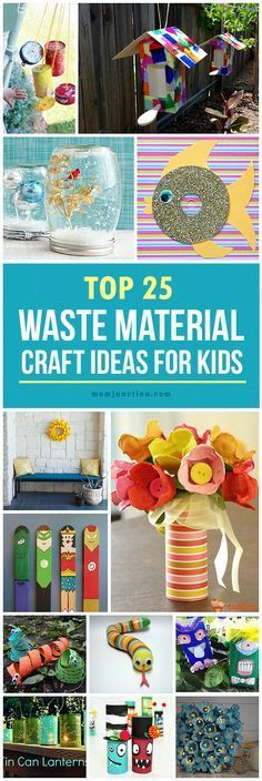 Top 25 Waste Material Craft Ideas For Kids:  From beautiful home décor to funky jewellery, here are out of the box ideas to create the best out of the waste!