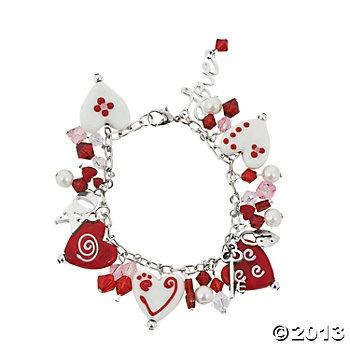 Valentine Hearts bracelet project