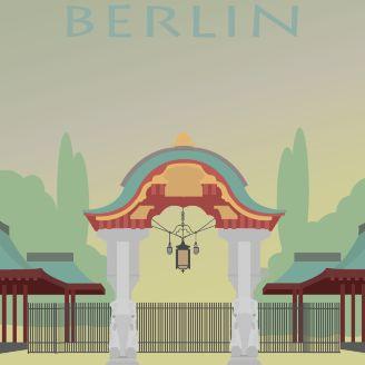 Amazing Poster Grafisk Design Illustration Berlin Zoologischer Garten