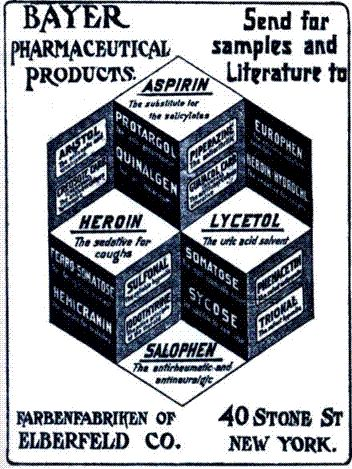 Fancy I pezzi pregiati della scuderia Bayer ad inizio novecento notare anche l uEroina