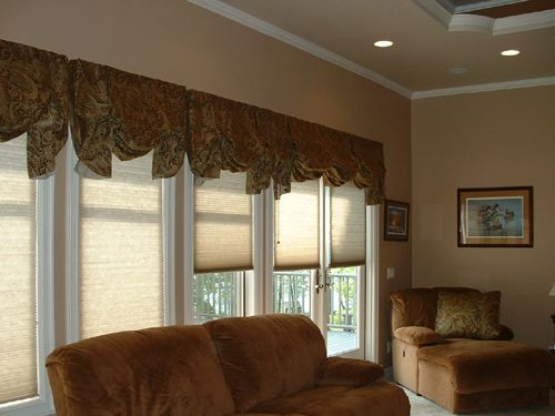 Paisley London Valances Over Kirsch Cellular Shades With