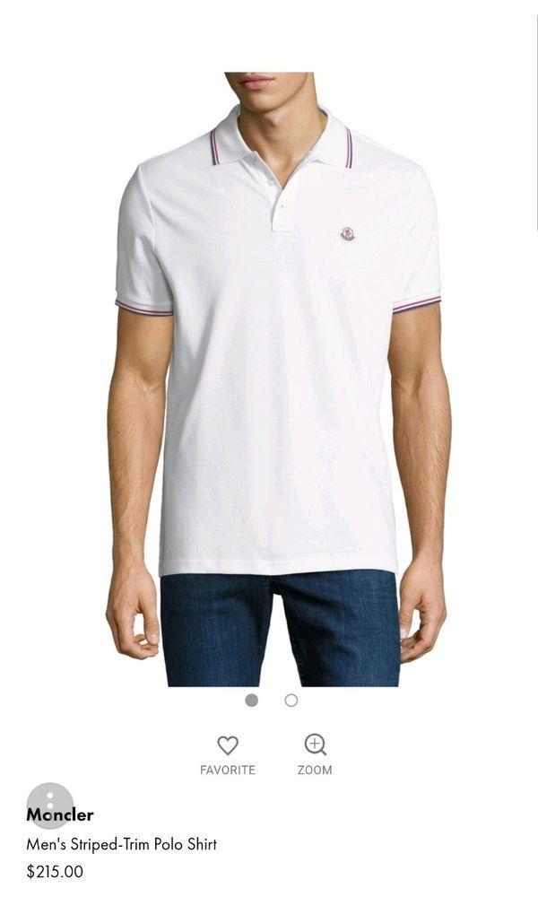 Moncler Maglia Polo Manica Corta Short Sleeve White Shirt