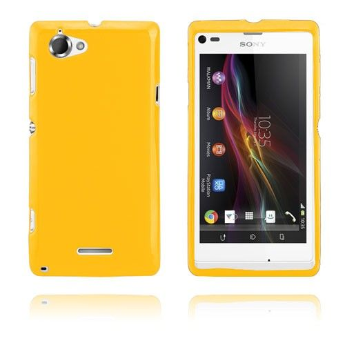 GelCase (Keltainen) Sony Xperia L Suojakotelo