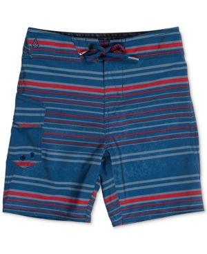 Volcom Magnetic Liney Board Shorts, Toddler & Little Boys (2T-7) - Blue