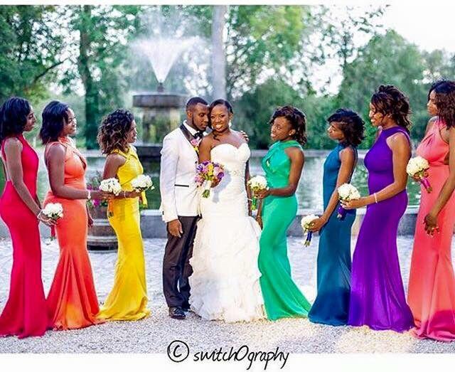 29 best rainbow wedding images on pinterest rainbow wedding multicolored bridesmaids rainbow weddingafrican junglespirit Gallery