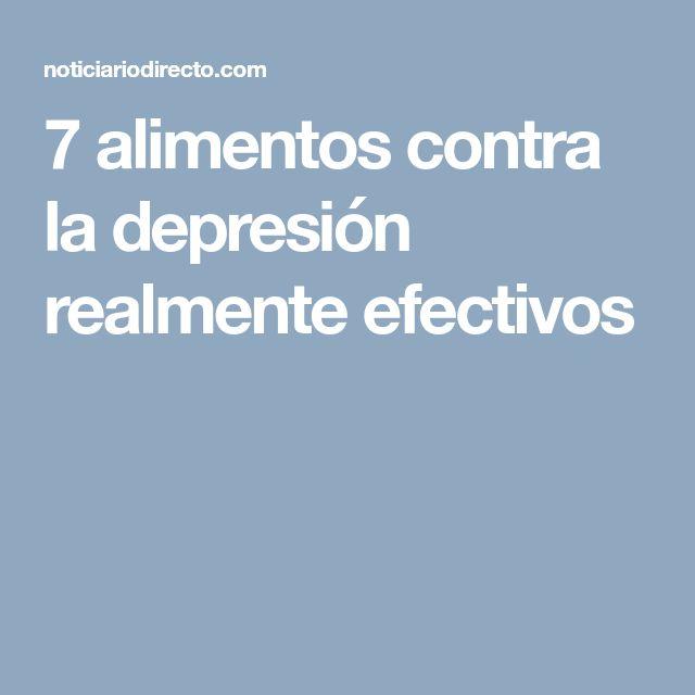 7 alimentos contra la depresión realmente efectivos