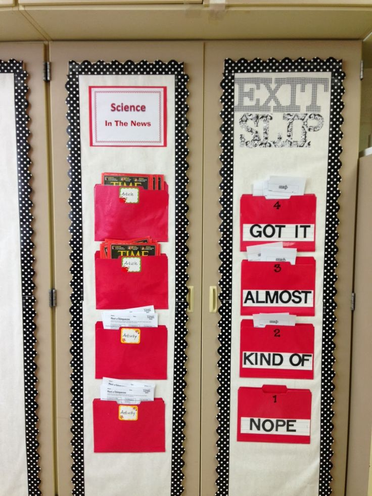 Class Organize: Exit Slip, Exit Ticket, Ticket out the Door .... LOVE the different pockets!!!!