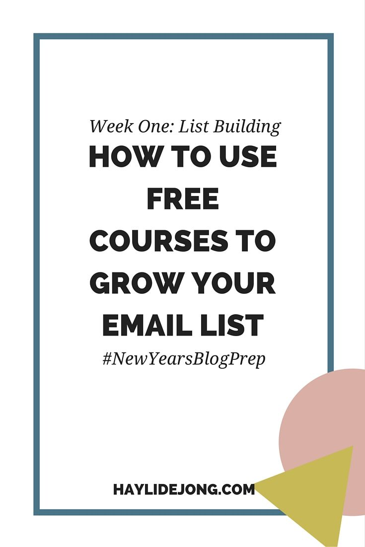 One of the biggest tasks for any online entrepreneur or blogger is growing an email list. In my New Years Blog Prep series we are talking about different ways to grow your email list for the first week. List building tip number two talks about growing your email list with free mini courses sent via email