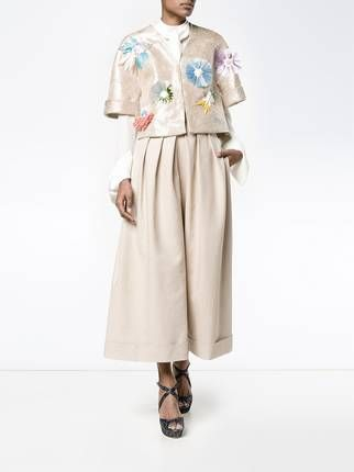 Delpozo cropped pleated trousers