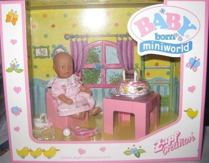 ZAPF BABY BORN MINIWORLD - BIRTHDAY SET SET **MIB** in Dolls, Bears, Dolls, Baby Born | eBay!