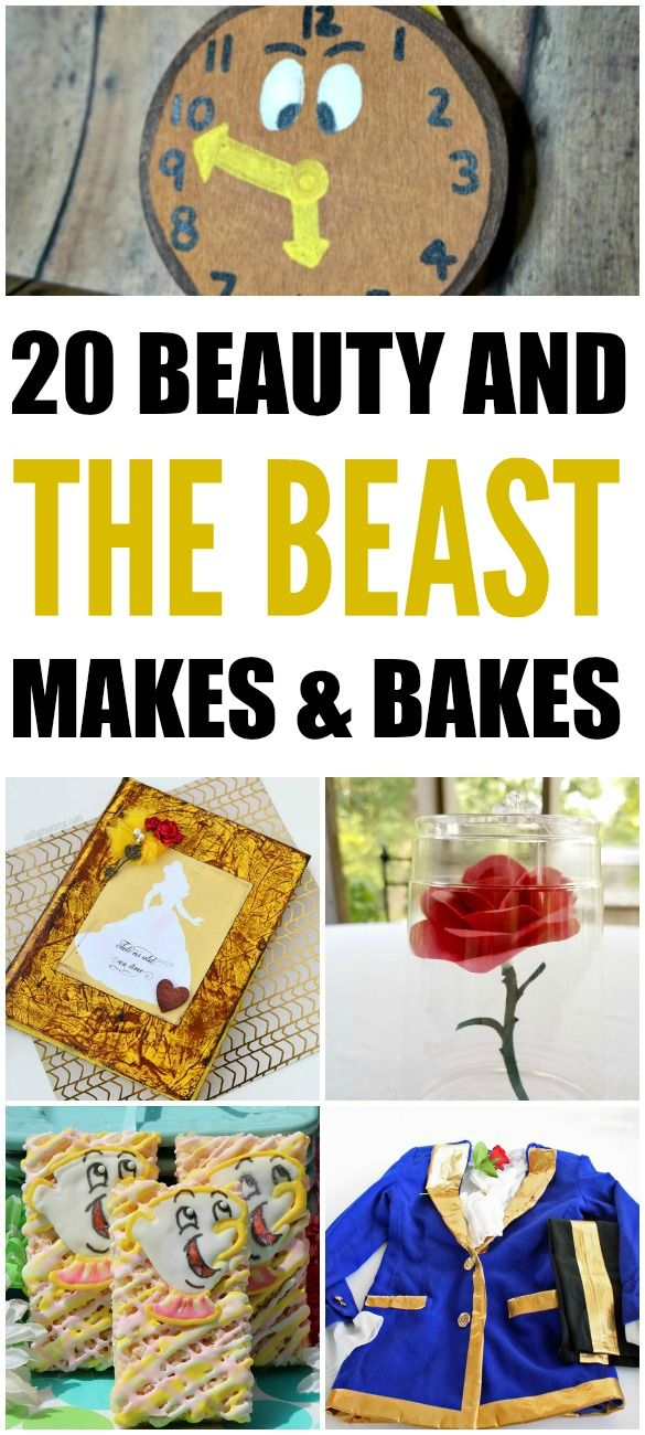 20 Beauty and the Beast makes & bakes perfect to get you in the mood for he new movie! #Disney #BeautyandtheBeast #recipes #crafts