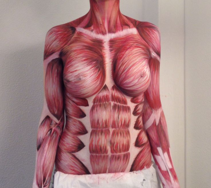 Muscles bodypainting