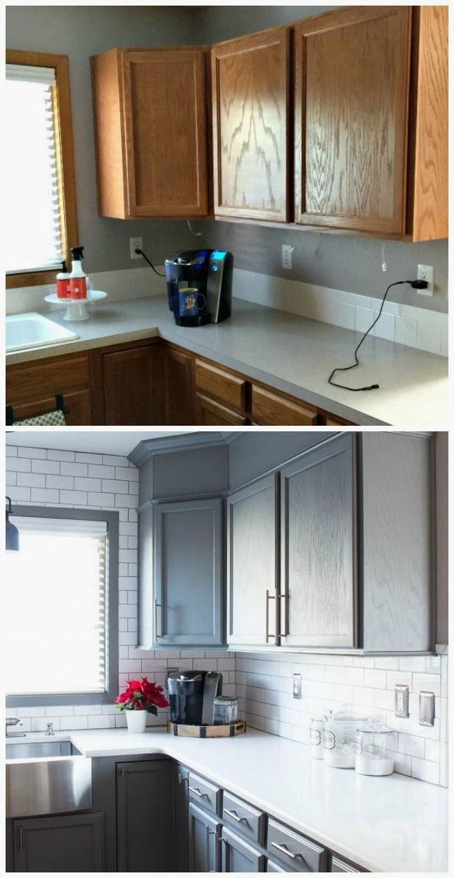 Kitchen Cabinet Remodel Paint And Pics Of Sale Kitchen Cabinets Home Depot Tip 4889422 Small Kitchen Renovations Kitchen Remodel Small Builder Grade Kitchen