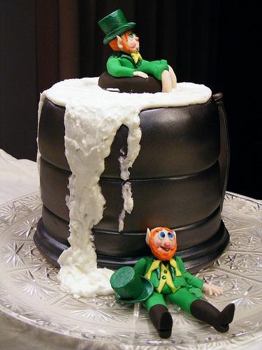 St Patrick's Day Cakes - Beer Mug Cake