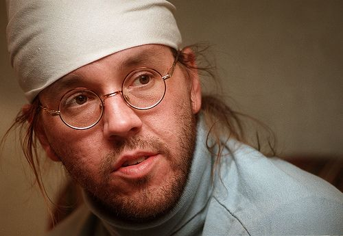"""David Foster Wallace - """"What the really great artists do is they're entirely themselves. They're entirely themselves, they've got their own vision, they have their own way of fracturing reality, and if it's authentic and true, you will feel it in your nerve endings."""""""