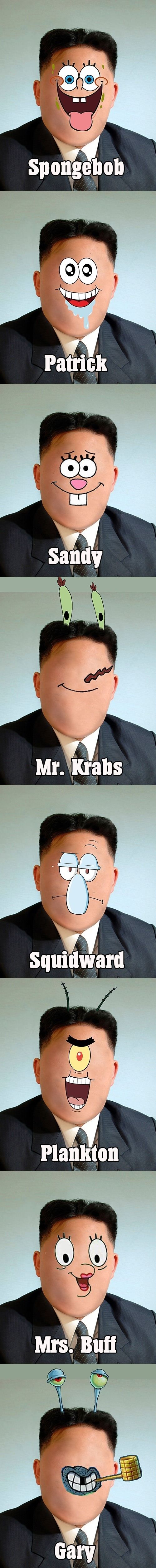 Kim in spongebob - funny pictures - funny photos - funny images - funny pics - funny quotes - #lol #humor #funny