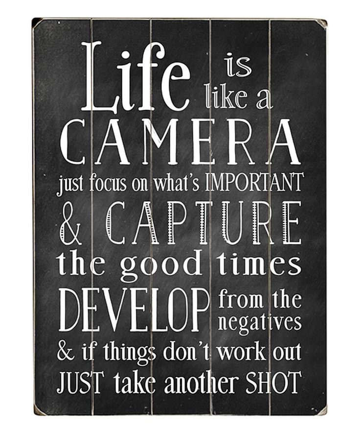 Take a look at this Nancy Anderson 'Life is Like A Camera' Wood Wall Art today!