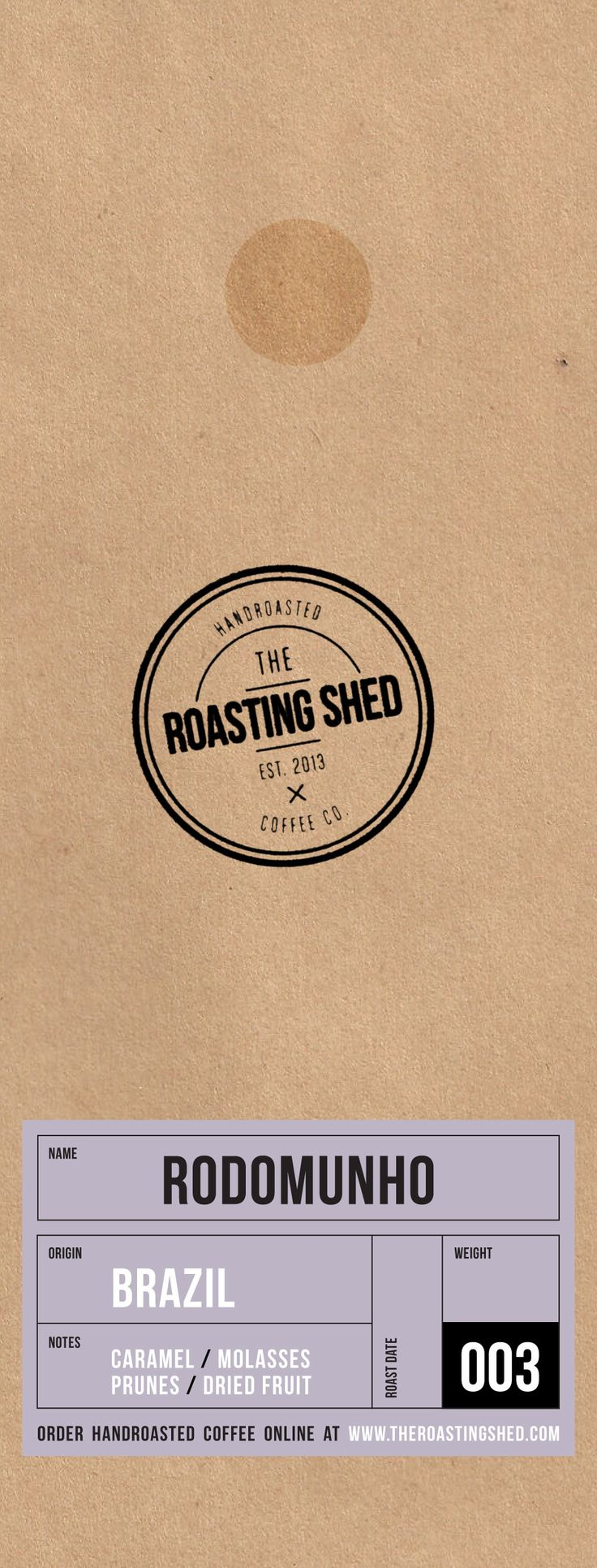 Packaging - Coffee bags from the Roasting Shed