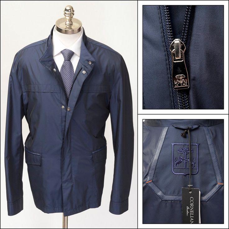 CORNELIANI ID Identity Navy Water Proof Safari Field Coat Jacket     Have at it! http://www.frieschskys.com/outerwear     #frieschskys #mensfashion #fashion #mensstyle #style #moda #menswear #dapper #stylish #MadeInItaly #Italy #couture #highfashion #designer #shop