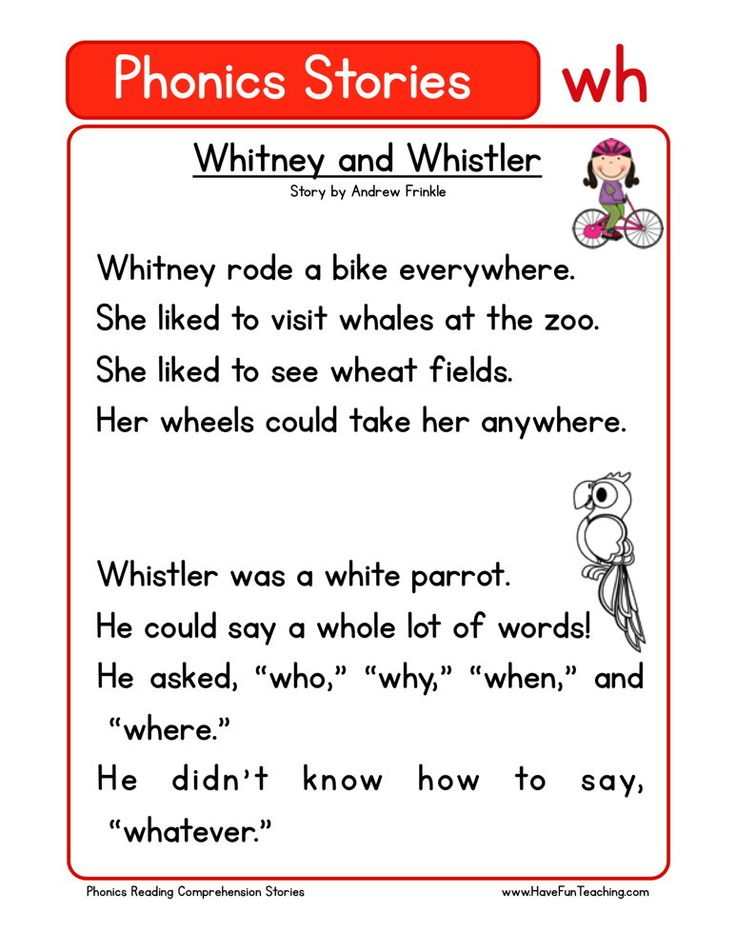 This Reading Comprehension Worksheet - Whitney and Whistler is for teaching reading comprehension. Use this reading comprehension story to teach reading comprehension.
