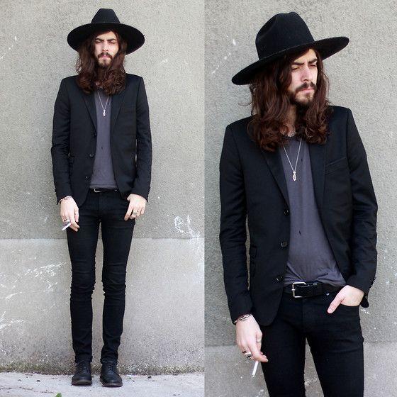 The Kooples Black Jacket, H Black Shoes