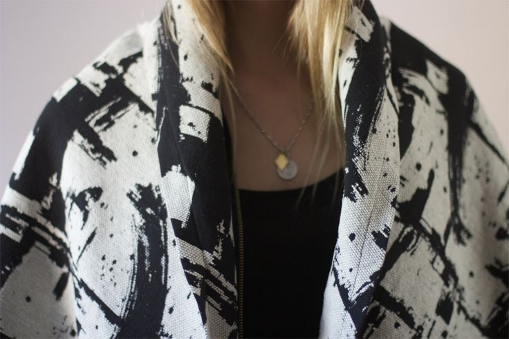 Maverick Black shawl from kristanorris.com