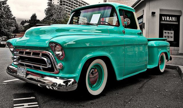 .Chevy, love the body style and all its curves and the color and the wheels. just everything! :)
