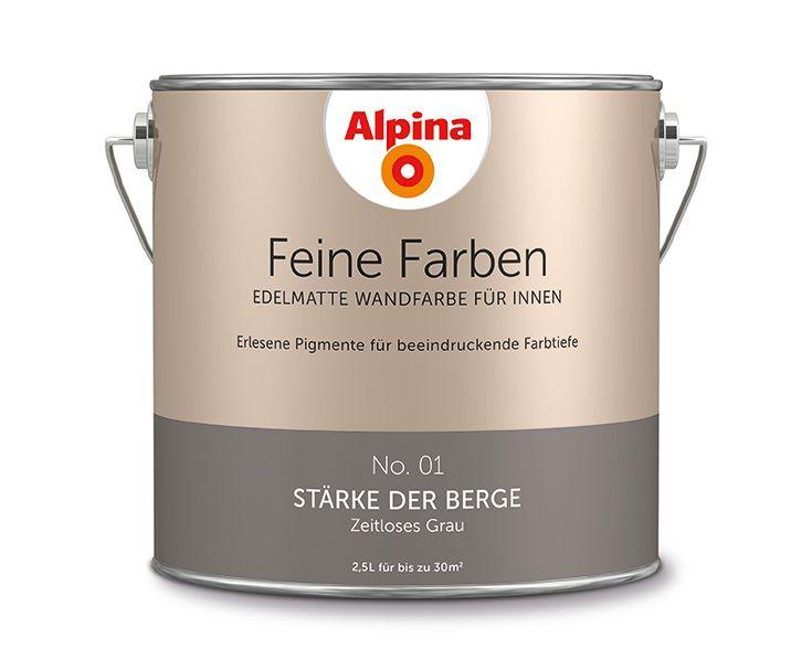 8 besten Alpina Feine Farben u2013 No 01 STÄRKE DER BERGE Bilder - farben im interieur stilvolle ambiente