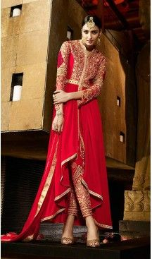 Deep Scarlet Color Georgette Party Wear Narrow Pants Dresses | FH473873399 #heenastyle , #salwar , #kameez , #suits , #anarkali , #party, #wear , #panjabi , #patiyala , #abaya , #style , #indian , #fashion , #designer , #bridel , #evening , #formal , #office , #deaily , #dupatta , #churidar , #palazo , #plazzo , #nerrow , #pant , #dress , #dresses , #fashion , #boutique , #mode , #henna , @heenastyle , #latest , #gowns , #pakistani , #readymade , #stitched , #plus , #size , #islamic
