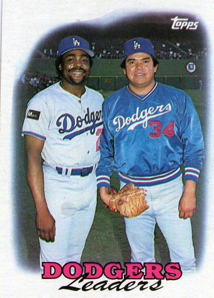 Fernando Valenzuela And Pedro Guerrero Baseball Cards Dodgers