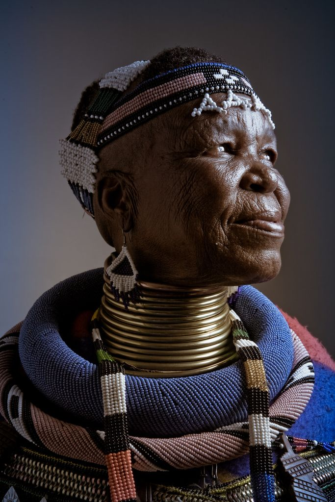 Esther Mahlangu an Ndebele woman from South Africa