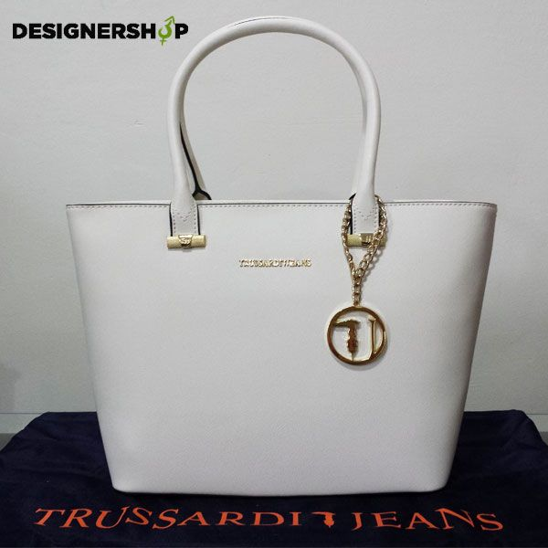 #Trussardi white bag