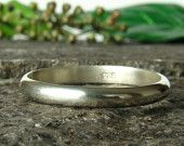 Stacking Rings 3mm, Sterling Silver 925, Handmade,men's band,Womens ring