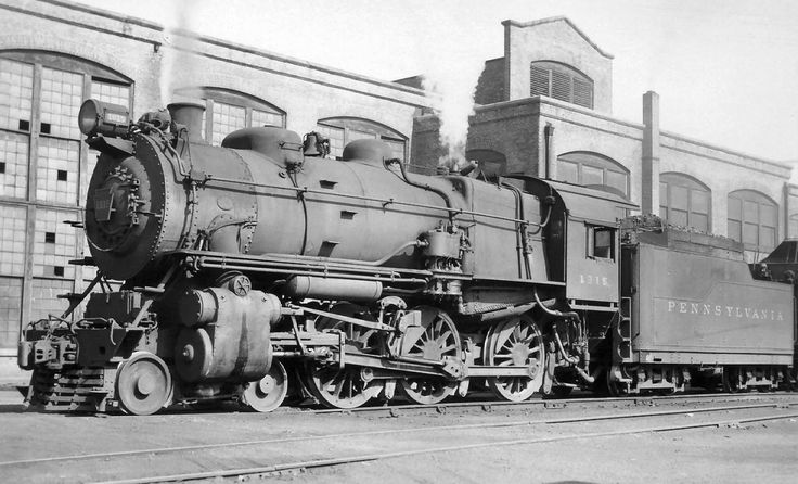 2 8 0 Consolidation Type Locomotives: (Class H6). #1850. Pennsylvania R.R. 2-8-0 Consolidation