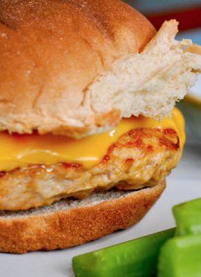 Buffalo Chicken Burger   howsweeteats.com