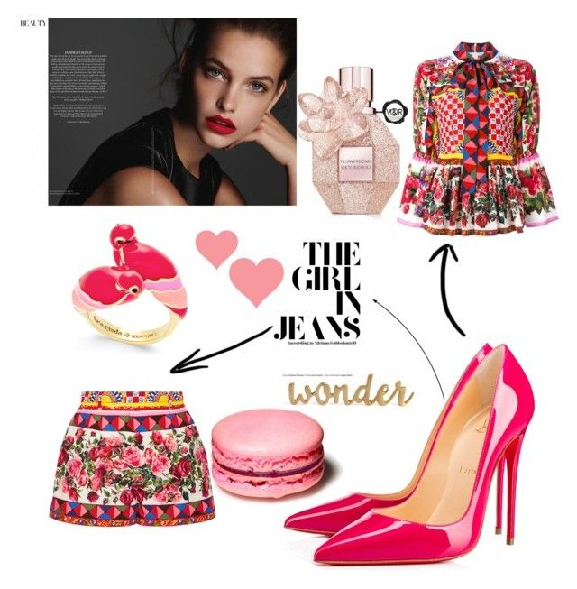 """Untitled #12"" by veronika-grabanova on Polyvore featuring interior, interiors, interior design, home, home decor, interior decorating, Dolce&Gabbana, Christian Louboutin and Kate Spade"
