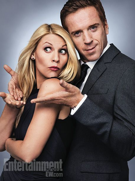 Homeland - Well, we'll never see Claire Danes & Damian Lewis hamming it up like this in ANY episode!!  Love this show!!