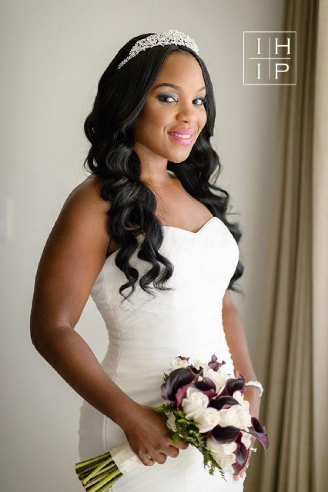 The Blushing Bride A Beautiful Destination Wedding At Hyatt Ziva Rose Hall In Jamaica Black Wedding Hairstyles Black Brides Hairstyles African Hairstyles