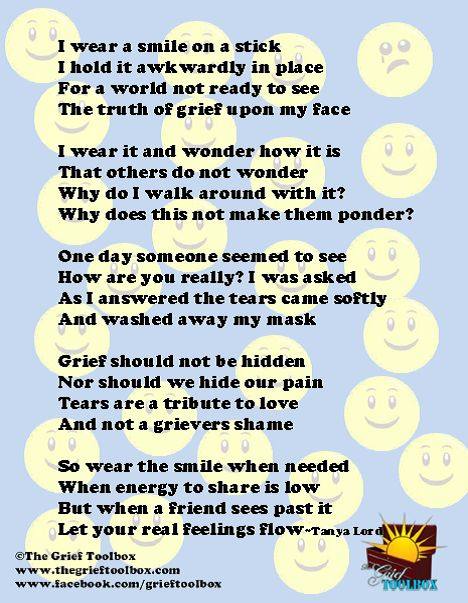 Smile on a stick a poem   The Grief Toolbox