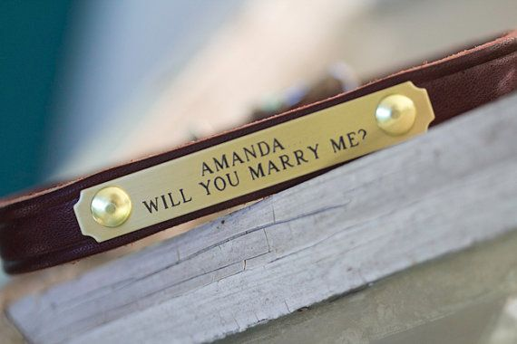 Dog proposal collar (see this & more proposal ideas w/ your dog!)