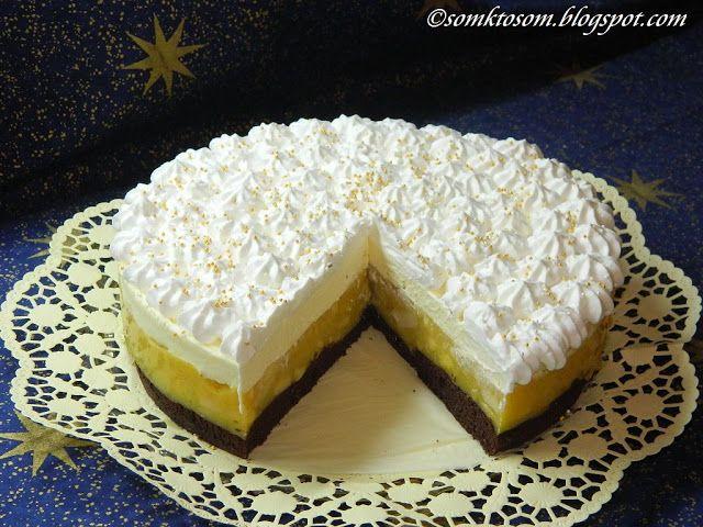 RECEPTY Z MOJEJ KUCHYNE: Jablková torta s krémom z mascarpone a vaječného likéru
