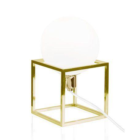 Globen Cube Mässing Bordlampa