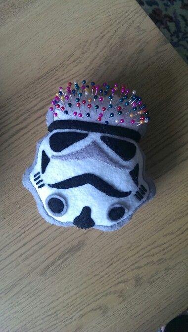 Felt stormtrooper pin cushion